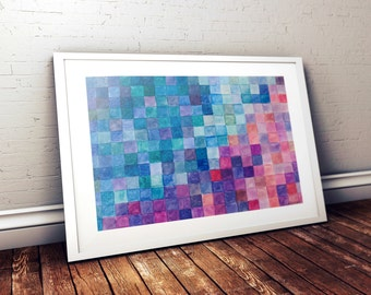Geometric watercolor