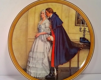 "Vintage""The Unexpected Proposal"" Decorative Wall Plate by Norman Rockwell"