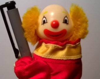 Vintage Two Faced Pen Hugging Clown by Danik