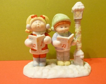 Figurine, Cabbage Patch Carolers by: Xavier Roberts