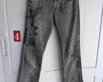 Vintage Miss Sixty grey denim embellished jeans size 28 UK 10