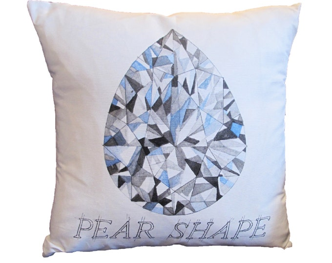 Featured listing image: Pear Shape Diamond Pillow