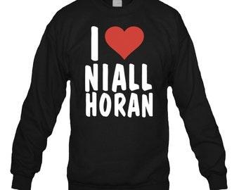 I Love Niall Horan 1D One Direction Crewneck Sweatshirt