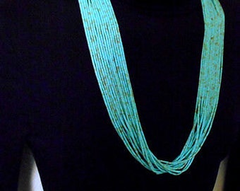 Reserved ruth salazar HandCrafted Navajo Multistrand Turquoise Necklace