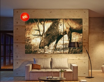 elk  canvas wall art elk wall decoration elk canvas wall art art elk large canvas wall art  wall decor