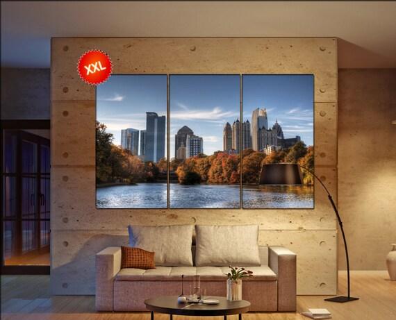 Atlanta skyline canvas wall art  skyline Atlanta skyline canvas wall art art Atlanta skyline wall decoration xx large canvas wall art
