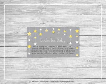 Twinkle Little Star Baby Shower Book Instead of Card Insert - Printable Baby Shower Books for Baby - Twinkle Little Star Baby Shower - SP117