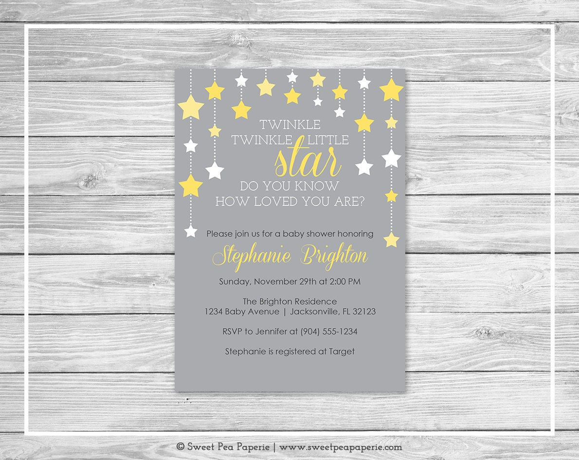 twinkle little star baby shower invitation printable baby