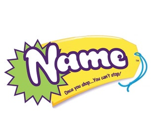 Edible Personalized Name tag cupcake or cookie topper