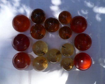 Collection of Individual Acrylic Grapes