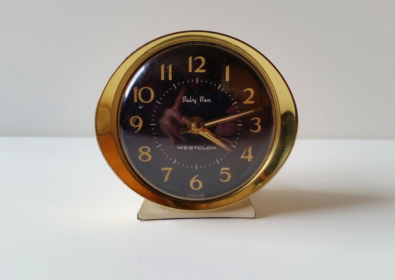 Bedside Clock Baby Ben Westclox Alarm Clock Vintage Mid
