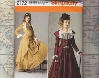 Plus Size Steampunk Costume Pattern, Simplicity 2172