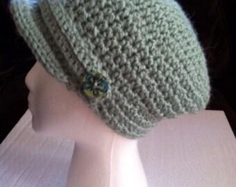 Slouchy newsboy hat