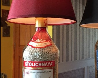 Large 1.75 vodka bottle lamp