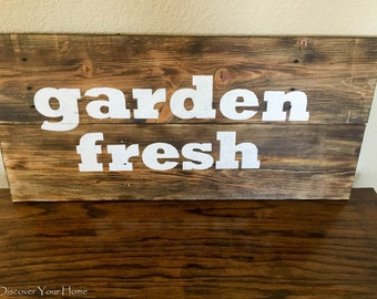 Garden Fresh Wood Sign