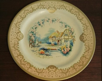 "English Baret Ware ""Cottage"" Tin Plate"
