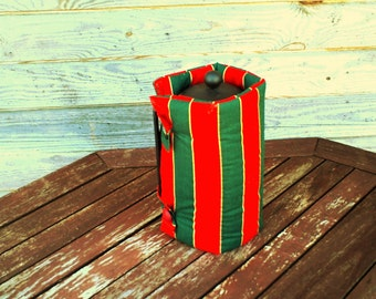 French Press Coffee Tea Pot Cozy Warmer, Coffee Tea Pot Cover,Cotton Warmer,Green Red Striped
