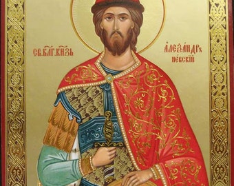Saint Alexander Nevskiy russian icon - #26bb