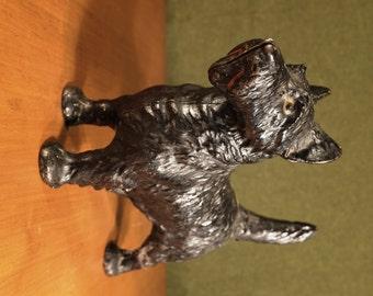 Vintage Hubley Cast Iron Large Scottie Dog Door Stop