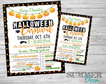 Halloween Carnival Poster and Invitation