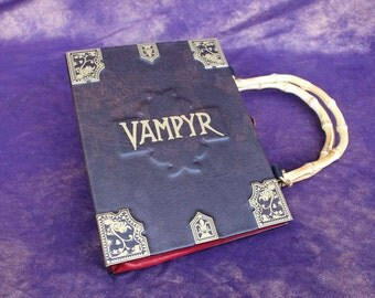 Vampyr Slayers Handbook Hand Bag - Custom Book Replica / Clutch / Purse / Satchel (Inspired by Buffy the Vampire Slayer)