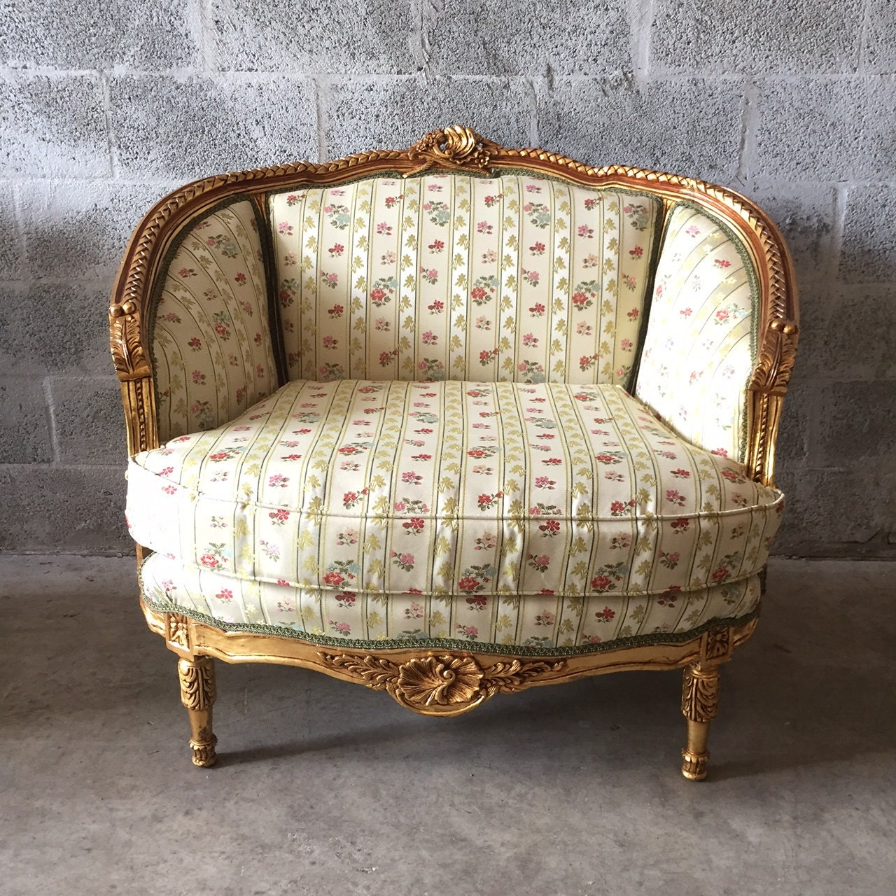 french corbeille marquise settee bergere louis xvi very sturdy. Black Bedroom Furniture Sets. Home Design Ideas