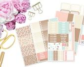 Earthly Horizontal Erin Condren Weekly Kit -- Matte Planner Stickers
