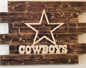 Dallas Cowboys football man cave wood sign