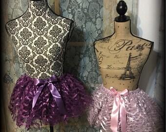 Metallic Tulle TUTU size 2-3YR old Pink or Purple