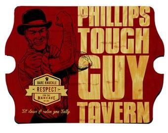 Personalized Man Cave Sign - Vintage Bar Sign - Man Cave Decor - Tough Guy Tavern
