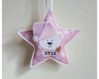 Polar bear christmas gift, personalised christmas decoration, christmas gifts
