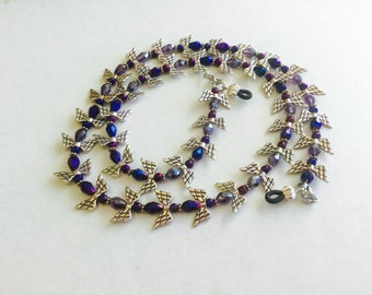 Purple Angel Beaded Eyeglass Chain-Sunglass Chain-Eyeglass Holder-Eyeglass Strap-Chain for Glasses-Necklace