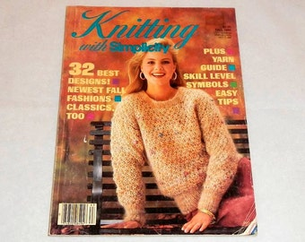 Knitting With Simplicity Vintage Fall 1986 Pattern Magazine