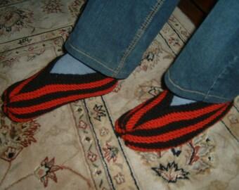 Men's slippers socks crocheted
