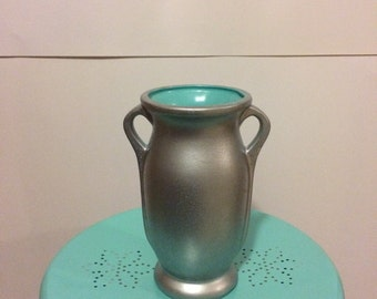 Turquoise Mercury Glass Vase