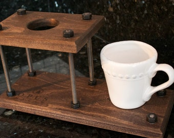 Pour Over Coffee Dripper Stand with Extension (Industrial)
