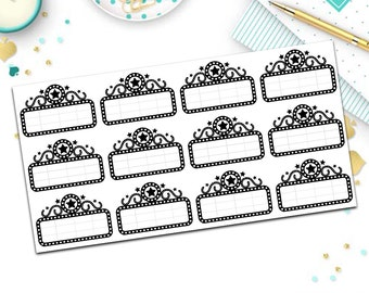Real foil movie marquee stickers