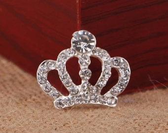 Gorgeous Rhinestone Princess Crown - Rhinestone Tiarra - Rhinestone Flatback Embellishments - Headband Bling - Headband Embellishments