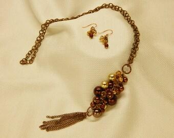 Copper Cluster Necklace (N5)