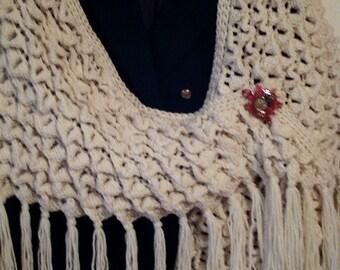 Crochet Shawl: Crocodile Stitch  Crochet Shawl