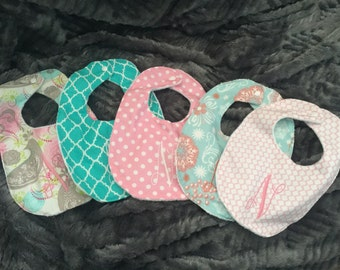 Baby bibs, girls bibs, baby clothing, monogrammed bib, infant clothing, infant bibs, baby accessories