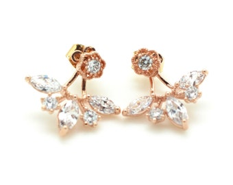 Tiara Cubic Zircon Ear Jacket