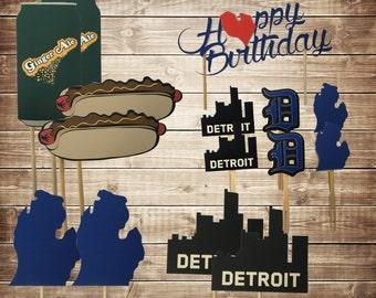 Detroit Michigan Birthday Decoration Package, Detroit Decorations, Michigan Decorations, Party in a box, Custom Decoration Package, Michigan