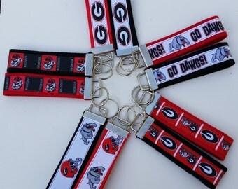 """4"""" -  Sport Team Keychain - UGA Georgia Bull Dawgs Key Fob"""