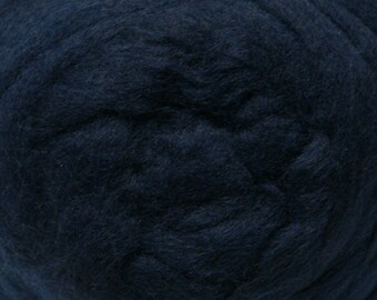Indigo Corriedale Wool Roving One Ounce for Felting and Spinning