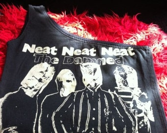 The Damned neat neat neat cropped t shirt Top punk goth vanian diy S
