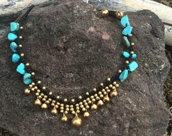 Anklet/Tribal Anklet/Thai Anklet/Macrame Anklet/Tribal Gypsy Beach Beads