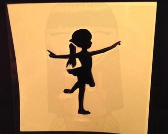 Little Girl Dancing Stencil