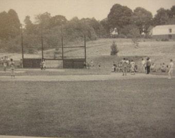 Little League Baseball Postcard, Tolland, Conn., 1950s