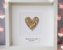 She may be little but she is fierce picture ~ Shakespeare quote heart picture ~ gold wall art ~ heart art ~ girls nursery ~ gold wall decor